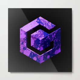 Purple GameCube Metal Print