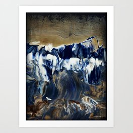 Sapphire Surf Art Print