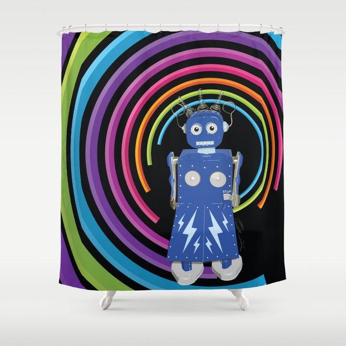 Electra Robot Shower Curtain