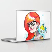 ariel Laptop & iPad Skins featuring Ariel by Daniel Savoie
