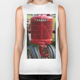 Red Farmall Tractor Biker Tank