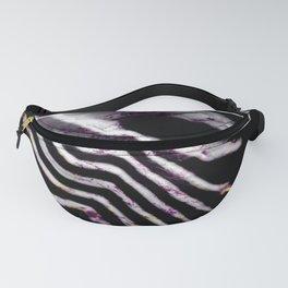 Abstract landscape print stripes black purple Fanny Pack