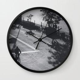 Street BW Wall Clock