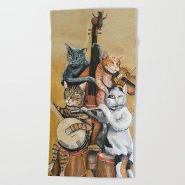 Cat Quartet Beach Towel