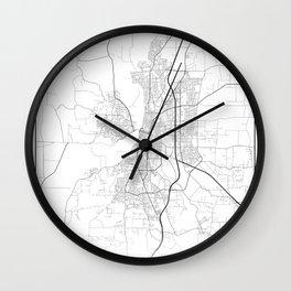 Minimal City Maps - Map Of Salem, Oregon, United States Wall Clock