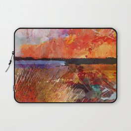 Landscape with sunset Laptop Sleeve