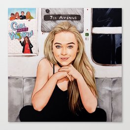 Sabrina Carpenter - Thumbs Canvas Print