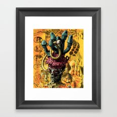 Magic Rocket Shroom Eye Framed Art Print