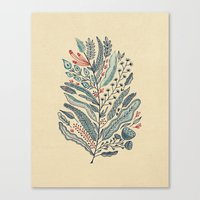 leaf Canvas Prints featuring Turning Over A New Leaf by Monica Gifford