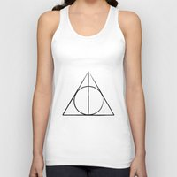 deathly hallows Tank Tops featuring The Deathly Hallows by A. Design