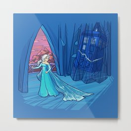 Frozen in Time and Space Metal Print