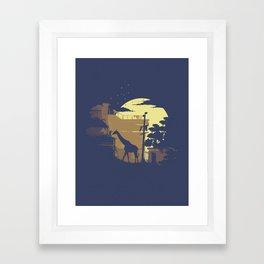 Ellie's Giraffe Framed Art Print