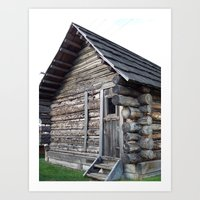 cabin Art Prints featuring Cabin by courtney2k ⚓ design™