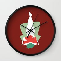 reading Wall Clocks featuring Reading by Katrin Ewert