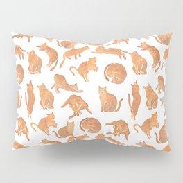 Cat Poses Pillow Sham
