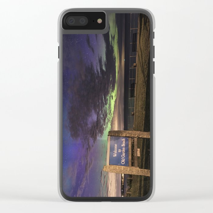 May Aurora at Old Garden Beach Clear iPhone Case