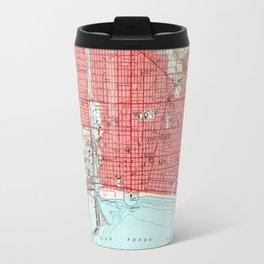 Vintage Map of Long Beach California (1949) 3 Travel Mug