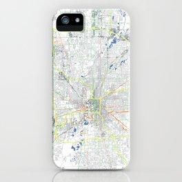 Indianapolis' POP urban map iPhone Case