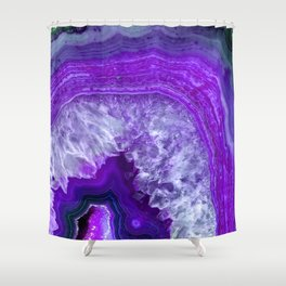 purple stone Shower Curtain