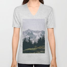 Mountains #faded Unisex V-Neck