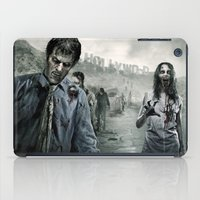 walking dead iPad Cases featuring Zombie by Joe Roberts