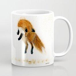 Fox Hop - animal watercolor painting Coffee Mug