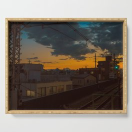 Tokyo Nights / Sunset over Fuji / Liam Wong Serving Tray