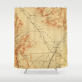 Vintage Map of The Las Vegas Valley NV (1907) Shower Curtain