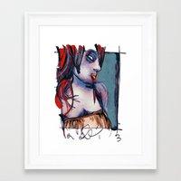 valentina Framed Art Prints featuring valentina by joseph arruda (zeruch)
