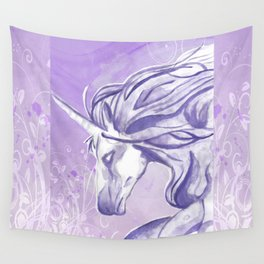 PURPLE UNICORN Wall Tapestry
