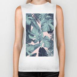 Tropical Summer Jungle Leaves Dream #3 #tropical #decor #art #society6 Biker Tank
