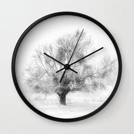 Winter Tree Wall Clock