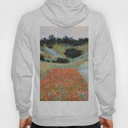 Poppy Field in a Hollow near Giverny by Claude Monet Hoody