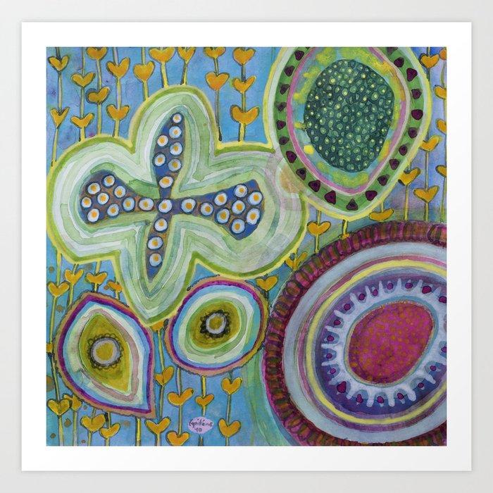 Peaceful Heartfelt Flower Power Art Print