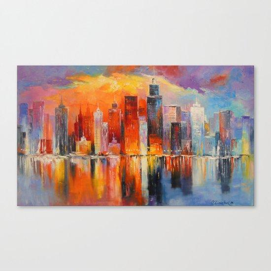 Evening new York Canvas Print