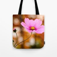 cosmos Tote Bags featuring Cosmos by LudaNayvelt