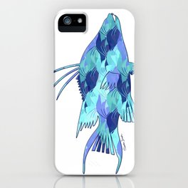 Blue Camouflage Hogfish iPhone Case