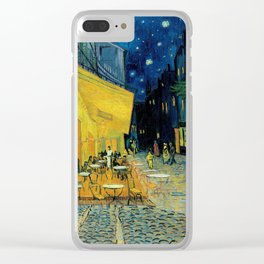 Van Gogh's Café Terrace at Night (High Resolution) Clear iPhone Case