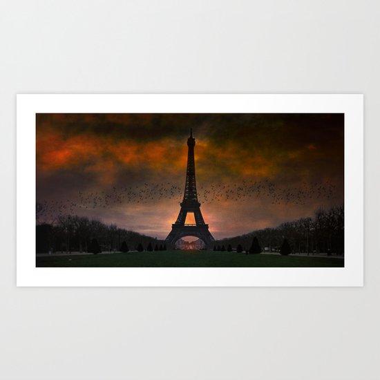 Bonsoir Paris Art Print