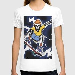 Wicked Electrocuted Skeleton Boy T-shirt