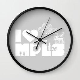 I Heart MPLS Wall Clock