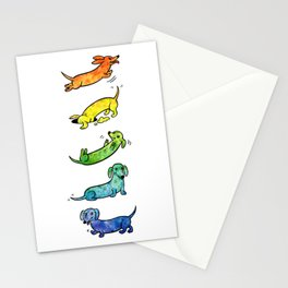 Watercolor Dachshunds Stationery Cards