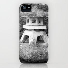 Stone lantern in Japanese Zen Garden iPhone Case