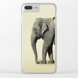 Inner Rose Elephant Clear iPhone Case