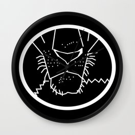 White Line Lion Mouth Wall Clock