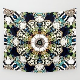 Earth Tones Kaleidoscope Wall Tapestry