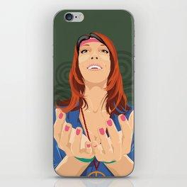 Hippy Girl  iPhone Skin
