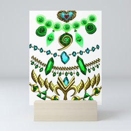 LOZ Design #3 - Green Gems of Hyrule Mini Art Print