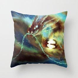 Nebula Dragon Throw Pillow