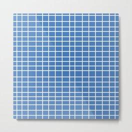 Squares of Blue Metal Print